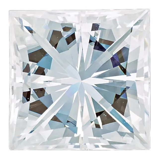 Forever One Moissanite Colorless Princess Cut