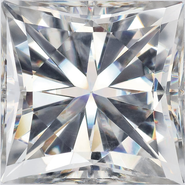 Forever One Moissanite Near Colorless Princess Cut