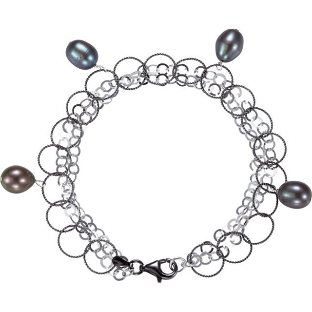 Freshwater Cultured Black Pearl 7.5