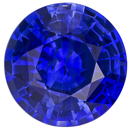 Gem Loose Blue Ceylon Sapphire - Great Looking Stone in Popular Size 7.50mm Round Cut, 1.90 carats