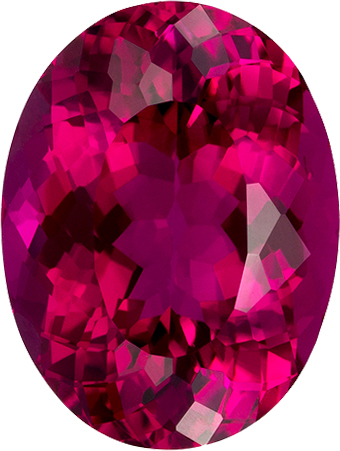 Gem Oval Cut Rubelite Tourmaline Loose Gem in Rich Fuchsia Color, 12.4 x 9.4 x mm, 4.76 carats