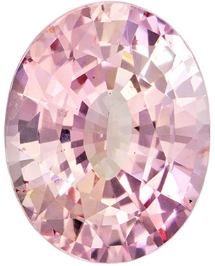 Gem Padparadscha Sapphire Unheated GIA Certified Oval Cut, Medium Pink Orange Color in 7.2 x 5.7 mm, 1.2 carats - SOLD