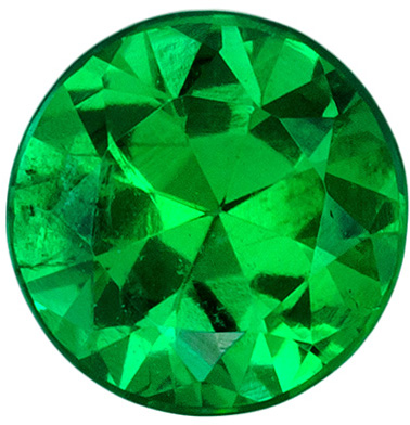 Super Fiery Clean Emerald Genuine Gem, Vivid Rich Green Color in Round Cut, 5.1 mm, 0.44 carats