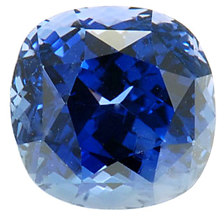 Gemmy Fine Colored Cushion Cut Blue Sapphire Gemstone 7.01 carats at AfricaGems