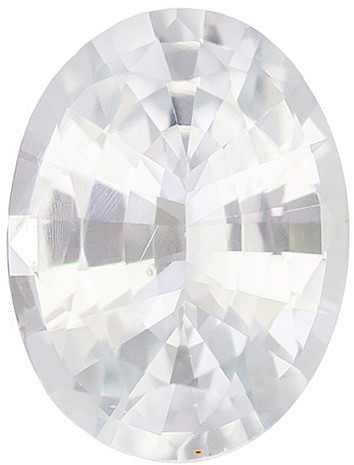 Genuine White Sapphire Oval Cut in Grade AAA