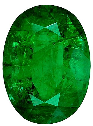 Deal on Genuine 1.18 carat Emerald Fine Gemstone, Oval shape, 7.9 x 5.9  mm