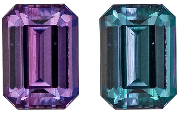 Genuine Alexandrite Emerald Shaped Gemstone, 0.23 carats, 3.9 x 2.8mm - Deal on Gem