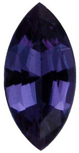 Genuine Alexandrite Gem, Marquise Shape, Grade AA, 4.00 x 2.00 mm in Size, 0.8 Carats