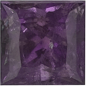 Genuine Alexandrite Stone, Princess Shape, A, 2.75 mm in Size, 0.18 Carats