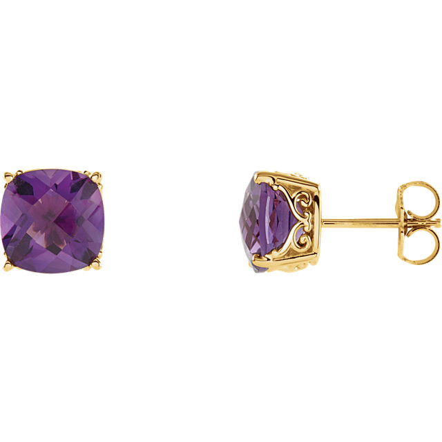 Quality Genuine Amethyst Earrings