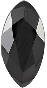 Natural Loose  Black Onyx Gem, Marquise Shape Faceted, Grade AA, 10.00 x 5.00 mm in Size