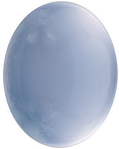 Natural Loose  Blue Chalcedony Gem, Oval Shape Cabochon, Grade AAA, 10.00 x 8.00 mm in Size, 3.13 carats