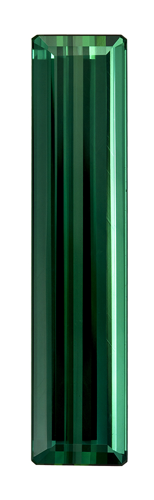 Genuine Blue Green Tourmaline Gemstone, Emerald Cut, 13.89 carats, 32 x 7.2 mm , AfricaGems Certified - Truly Stunning