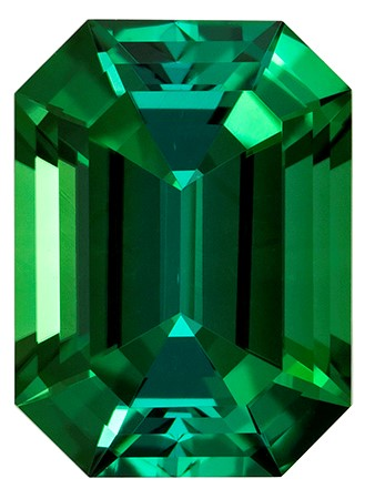 Genuine Blue Green Tourmaline Gemstone, Emerald Cut, 2.7 carats, 9.5 x 7 mm , AfricaGems Certified - A Beauty of A Gem