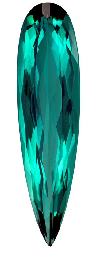 Genuine Blue Green Tourmaline Gemstone, Pear Cut, 5.6 carats, 26.8 x 7 mm , AfricaGems Certified - A Deal