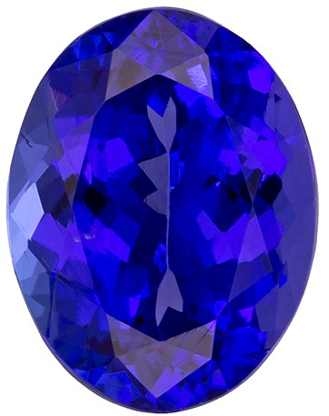Genuine Vivid Tanzanite Gemstone, Oval Cut, 2.41 carats, 9.2 x 7.1 mm , AfricaGems Certified - A Great Buy
