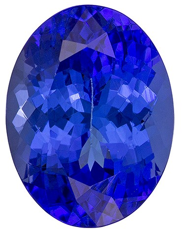 Genuine Vivid Tanzanite Gemstone, Oval Cut, 2.55 carats, 9.4 x 7.1 mm , AfricaGems Certified - A Deal