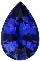 Genuine Blue Sapphire Gem, Pear Shape, Grade AA, 4.00 x 3.00 mm in Size, 0.2 Carats