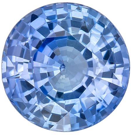 Genuine Blue Sapphire Gemstone, Round Cut, 1.01 carats, 6 mm , AfricaGems Certified - A Great Buy