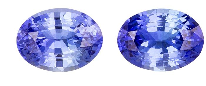 Genuine Blue Sapphire Gemstones, Oval Cut, 2.9 carats, 8 x 6 mm Matching Pair, AfricaGems Certified - A Deal