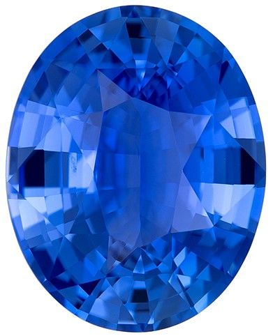 Genuine Blue Sapphire Oval Shaped Gemstone, 3.21 carats, 10.1 x 8.1mm - Great Colored Gem