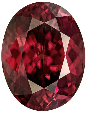 Impressive Size in Rose Brown Zircon 17.14 carats, Oval shape gemstone, 16 x 12.3  mm