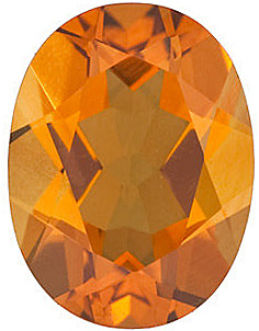Gemstone Calibrated Size Genuine Beautiful Oval Shape Citrine Gemstone Grade AAA, 8.00 x 6.00 mm in Size, 1.2 carats
