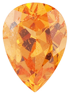 Gemstone  Calibrated Top Quality Pear Shape Spessartite Orange Garnet Grade AA, 7.00 x 5.00 mm in Size