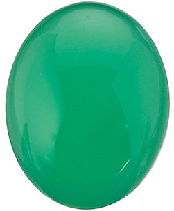 Loose Faceted  Chrysoprase Gem, Oval Shape Cabochon, Grade AAA, 10.00 x 8.00 mm in Size, 2.50 carats