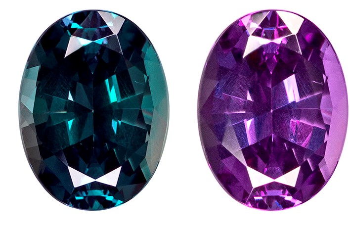 Genuine Color Change Alexandrite Gemstone, Oval Cut, 1.3 carats, 7.67 x 5.75 x 3.95 mm , Gubelin Certified - A Rare Find