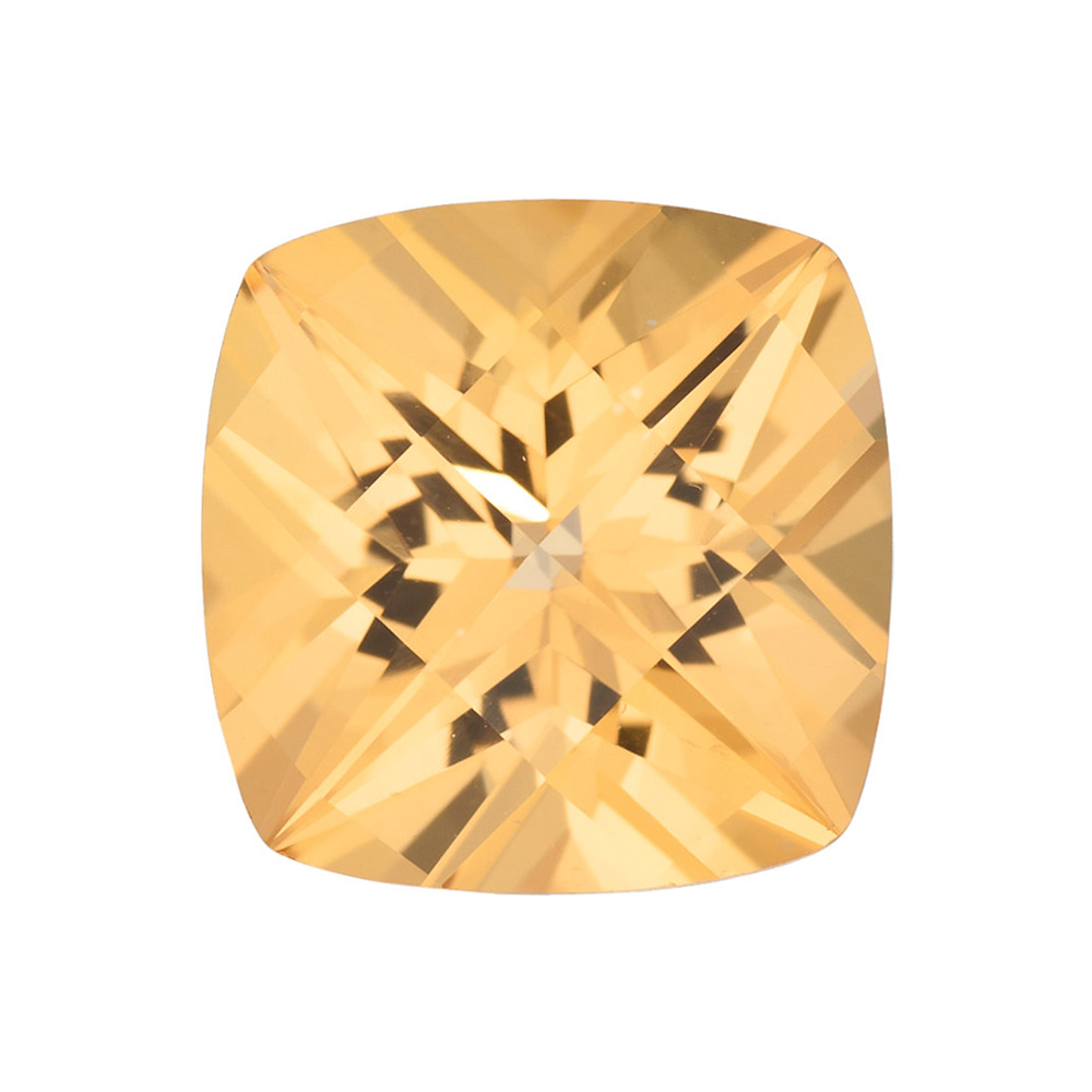 Genuine Cut Quality Antique Square Shape Honey Passion Topaz Gemstone Grade AAA, 10.00 mm in Size