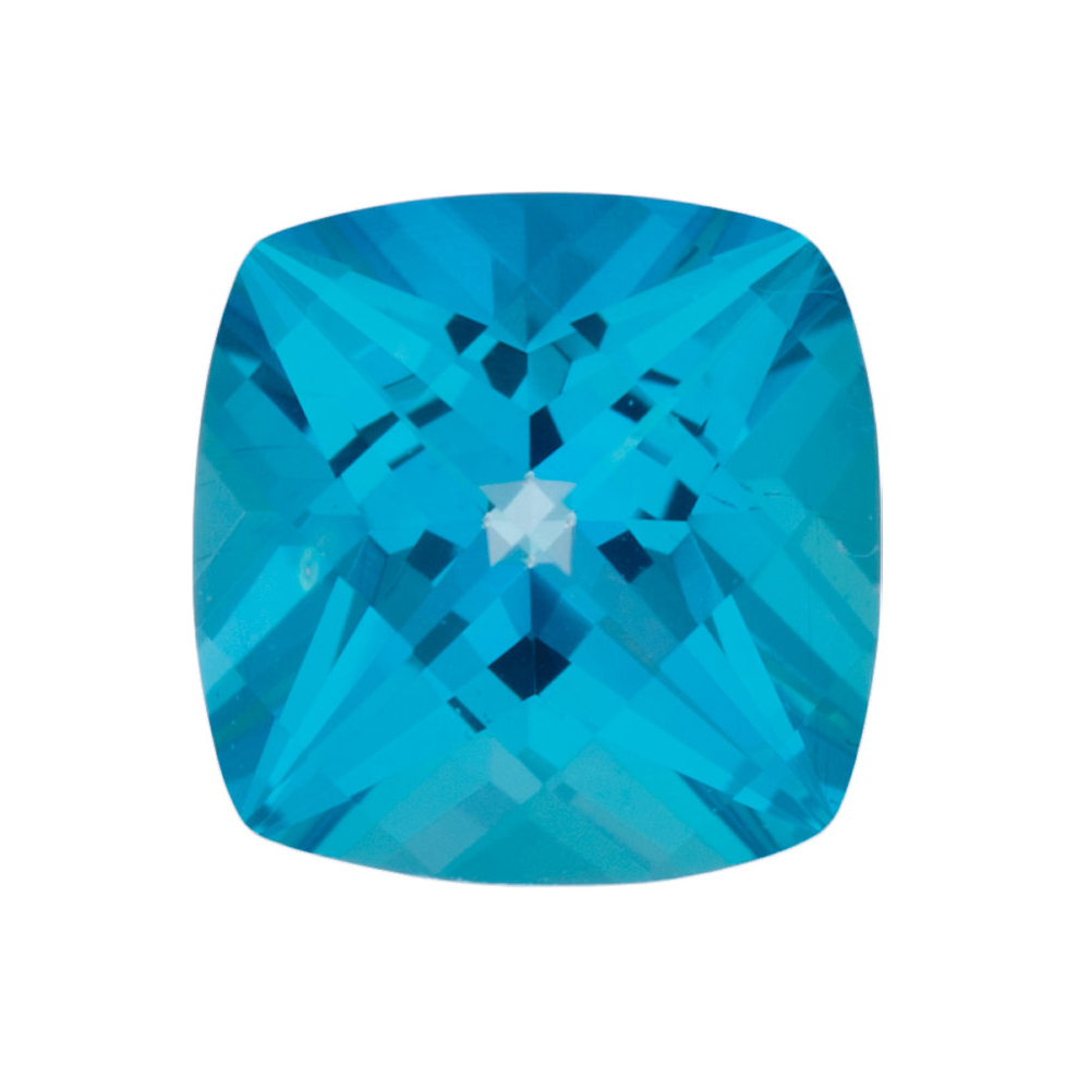 Natural Calibrated Loose Faceted Antique Square Shape Paraiba Passion Topaz Gemstone Grade AAA, 6.00 mm in Size
