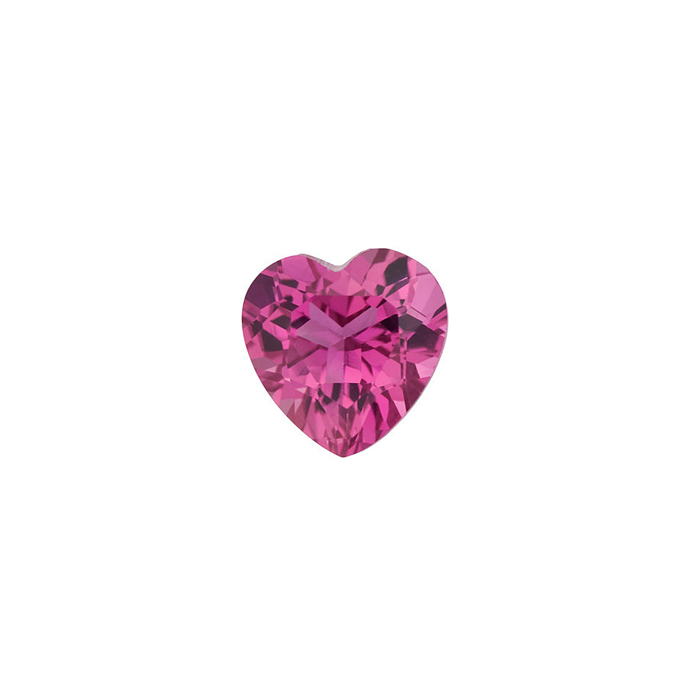 Loose Calibrated Size Top Quality Loose Heart Shape Pink Tourmaline Gemstone Grade AAA  6.00 mm in Size, 0.8 Carats