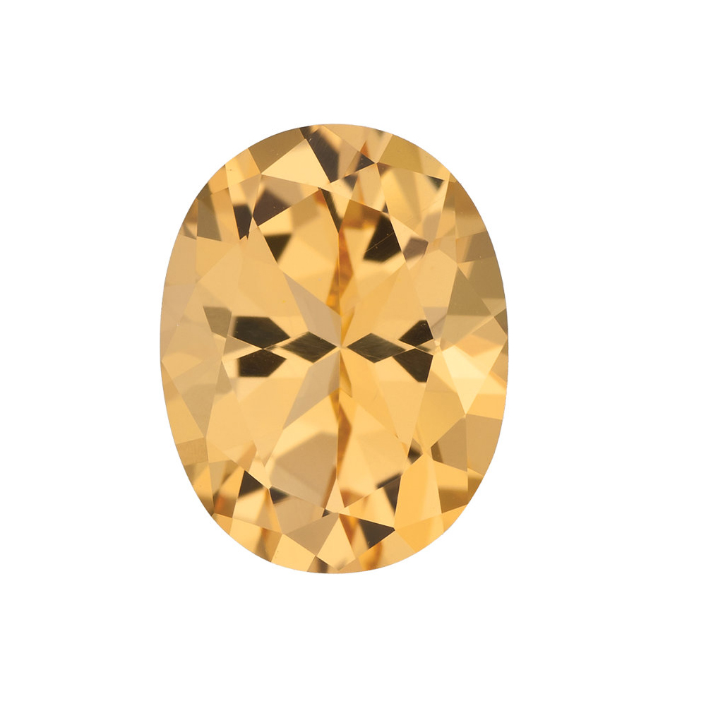 Genuine Cut Quality Oval Shape Honey Passion Topaz Gemstone Grade AAA, 10.00 x 8.00 mm in Size