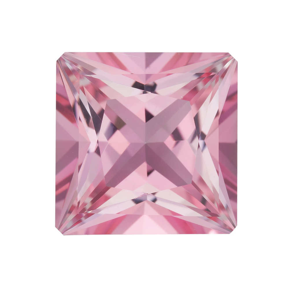 Genuine Cut Quality Princess Shape Baby Pink Passion Topaz Gemstone Grade AAA, 10.00 mm in Size