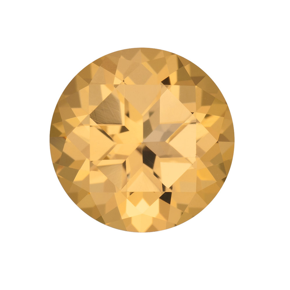 Genuine Cut Quality Round Shape Honey Passion Topaz Gemstone Grade AAA, 8.00 mm in Size