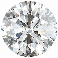 Faceted Loose  Diamond Melee Parcel, 16 Pieces, 2.44 - 2.50 mm Size Range, SI1 Clarity - I-J Color, 1 Carat Total Weight