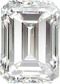 Genuine Emerald Cut Diamonds G-H Color - VS Clarity