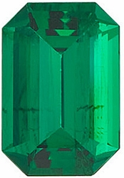 Genuine Emerald Gem, Emerald Shape, Grade AAA, 8.00 x 6.00 mm in Size, 1.3 Carats