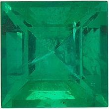 Quality Emerald Stone, Step Shape, Grade AA, 2.50 mm in Size, 0.09 Carats