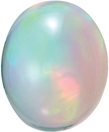 Natural  Loose Ethopian White Fire Opal, Oval Cabochon, 8.00 x 6.00 mm in Size, 0.858 carats