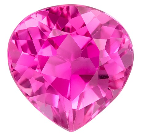 Genuine Gem Pink Tourmaline Pear Shaped Gemstone, 1.32 carats, 7.1 x 7mm - Deal on Gem