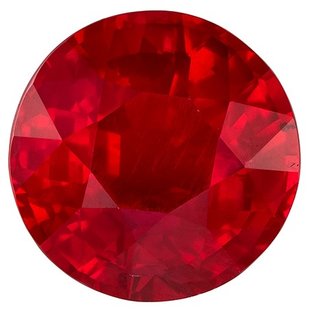 Genuine Gem Ruby Round Shaped Gemstone with GIA Cert, 2.19 carats, 7.72 x 7.66 x 4.63 mm - Unusually Fine