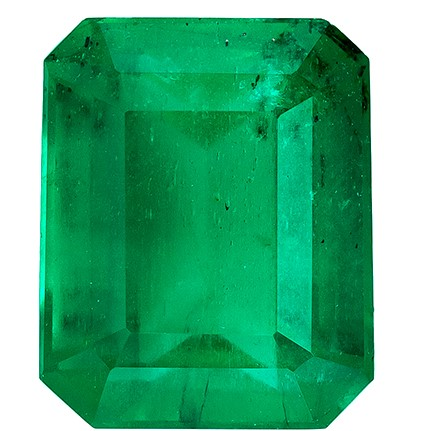 Genuine Vibrant Emerald Gemstone, Emerald Cut, 1.39 carats, 7.1 x 5.9 mm , AfricaGems Certified - A Low Price