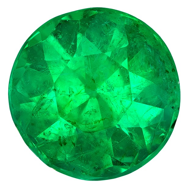Genuine Vibrant Emerald Gemstone, Round Cut, 0.52 carats, 5.2 mm , AfricaGems Certified - A Great Deal