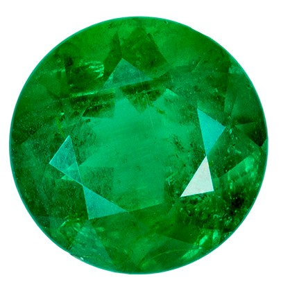 Genuine Vibrant Emerald Gemstone, Round Cut, 1.11 carats, 6.9 mm , AfricaGems Certified - A Magnificent Gem