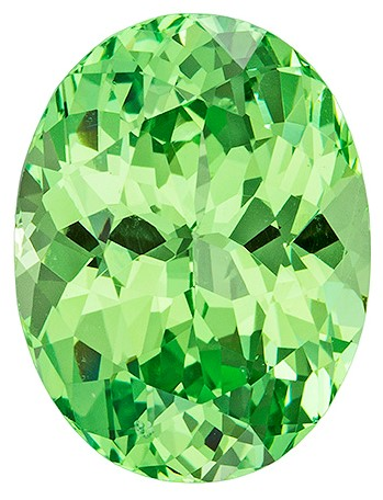 Beauty Mint Green Garnet Gemstone, Oval Cut, 4 carats, 11 x 8.4 mm , AfricaGems Certified - A Deal