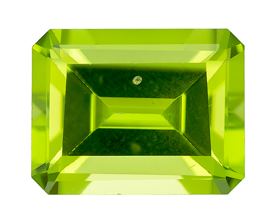 Genuine Vibrant Peridot Gemstone, Emerald Cut, 2.62 carats, 8.9 x 6.9 mm , AfricaGems Certified - A Great Buy