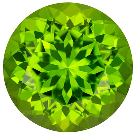 Genuine Vibrant Peridot Gemstone, Round Cut, 14.91 carats, 15.3 mm , AfricaGems Certified - A Beauty of A Gem