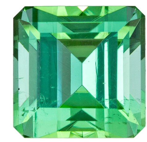 Genuine Green Tourmaline Gemstone, Emerald Cut, 2.36 carats, 7.1 mm , AfricaGems Certified - A Beauty of A Gem